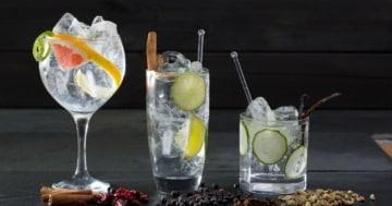 Eiswürfel im Gin & Tonic